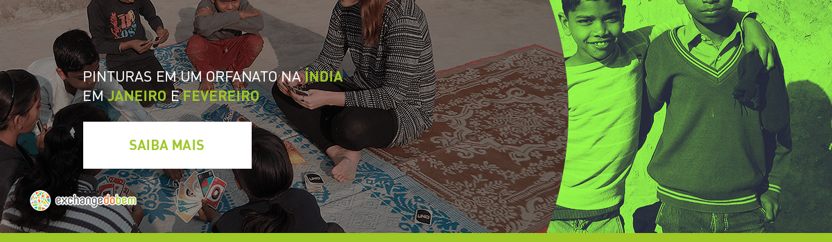 Pintiras em um orfanato na Índia